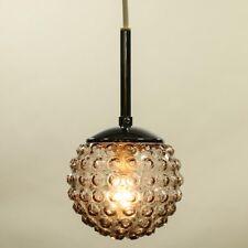 Staff Pendel Leuchte Rauch Glas Nuppen Kugel Lampe Vintage 60er 70er Jahre