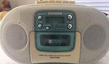 Aiwa Stereo Boombox CD Radio Cassette Recorder CSD-TD32U