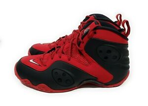 Nike Zoom Rookie Mens Basketball Shoes University Red Black Size 10.5