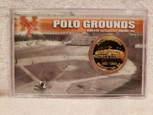 BEAUTIFUL New York Giants Polo Grounds 1911-1963 24 Kt Gold Coin, VERY NICE!