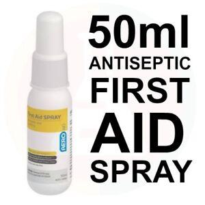 5 x Aeroaid Antiseptic Spray 50ml FIRST AID BULK BUY
