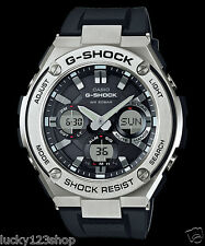 GST-S110-1A Black G-shock Men's Watches Resin Band Tough Solar New Casio 200m