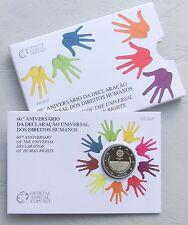 """2 euro Portugal 2008 """"derechos humanos"""" pp/proof en coincard"""