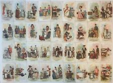 Costumes of all Nations Singer Sewing Machine 36 Card Set Columbian World Fair 1