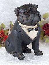 Gartenfigur Hund Skulptur Bulldogge Dogge 33 cm Figur Tier Antik Tierfigur Deko