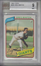 1980 Topps Card #588 Greg Minton Giants Z16273 - BVG Mint (9)