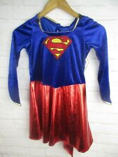 Super Girl Girls Size Medium Halloween Costume Cape Nails and Shoe Covers NWT