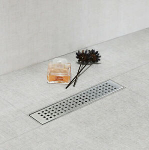 SaniteModar 12-inch Linear Shower Drain Comes with Tiled Stealth  304 Stainless