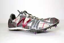 New Men's New Balance  MR800RS 800 Track Shoes Sz 10 1/2 D Gray/Red  9mm spikes