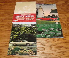 1968 Chevrolet Impala Caprice Shop Service Manual Owners Manual Brochure Lot 68