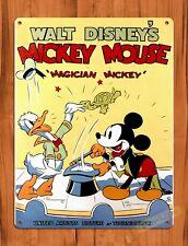 TIN SIGN Walt Disney Mickey Mouse Magician Mickey Cartoon Movie Art