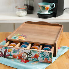 The Pioneer Woman Willow Storage Organizer Store Coffee Pods Tea Supplies