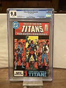 Tales of Teen Titans #44 CGC 9.8 WP - 1st App. Nightwing & Deathstroke Origin