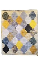 Gray and Yellow Crosses Quilt
