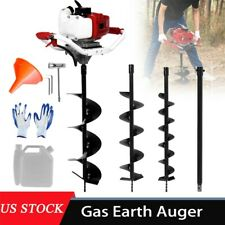 52cc 25hp 40 250mm Drill Auger Post Hole Digger Gas Powered Earth Auger