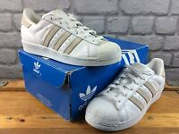 ADIDAS OG LADIES UK 5 EU 38 WHITE SAND SUPERSTAR LEATHER TRAINERS RRP £75 M