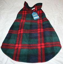 New listing Scenereal Reversible Fleece Plaid Dog Coat Jacket - Large