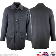 BRAND NEW MENS CLASSIC WARM WINTER THICK WOOL OUTWEAR COAT LONG TRENCH JACKET