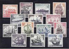 Edifil 1599 / 1612  BARCOS - Homenaje Marina Esp -  NUEVOS SIN FIJASELLOS -MNH**