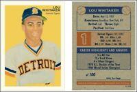 Lou Whitaker, Detroit Tigers, Limited Edition Art Baseball Card ACEO 1 thru 100