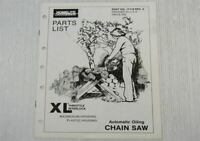 Homelite Jacobsen XL TI Chain Saw Throttle Interlock Parts List Catalogue