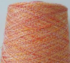 COTTON RAYON 4000 YPP LACE CONE YARN 3 LBS 6 OZS RASPBERRY RED MULTI COLOR (C22)