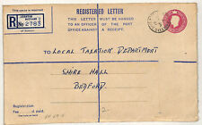 W115 1951 GB BEDS *Leighton Buzzard* CDS Registered Stationery {samwells-covers}