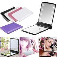 8 LED Portable Mini Makeup Travel Compact Pocket Folding Mirror Cosmetic Beauty
