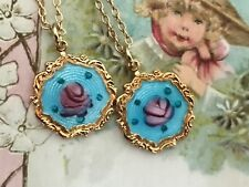 Twins Necklaces, Sarah coventry Necklaces, Vintage Rose Necklace, Rose #G67