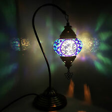 Turkish Moroccan Colourful Mosaic Lamp Lights Tiffany Glass Desk Table UK SELLER
