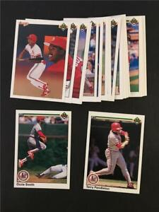 1990 Upper Deck St. Louis Cardinals Team Set 26 Cards