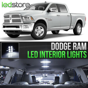 2009-2018 Dodge RAM 1500 2500 3500 White Interior LED Lights Kit Package