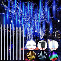 LED Meteor Shower Falling Rain Lights 30/50CM Christmas Party Outdoor Deco
