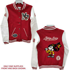 More details for walt disney world parks mickey mouse baseball sport jacket red white small new