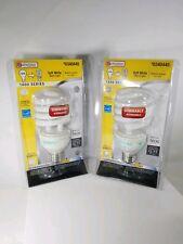 2 bulbs Utilitech 23W Dimmable Soft White 100W to 23W CFL Light Bulb