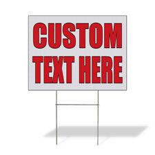 Weatherproof Yard Sign Custom Text Here Auto Body Shop Car Repair B Lawn Garden