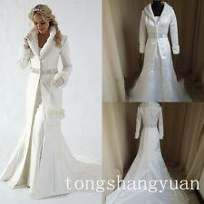 Elegant Bridal Winter Cloak Long Wedding Cape Faux Fur Cape Custom Size Jackets