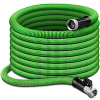 Latex Expandable Flexible Garden Water Hose With Nickel Brass Connector 50FT US