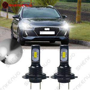 Für HYUNDAI i30 H7 Xenon LED Effekt Halogen Ersatz Lampen Birnen Weiß 2PC