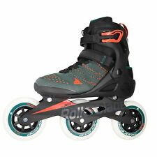 Macroblade 110 3Wd Teal Green/Orange Burst Mens Inline Skates Size 8 M