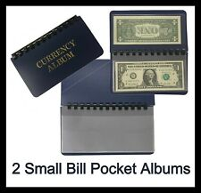 2 Whitman Pocket Album 10 Pages Small Modern Fractional Currency Notes 6.5 x 3