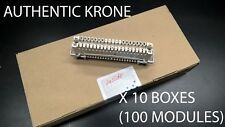 KRONE DISCONNECT MODULE CARRIER ENDORSED 10 BOXES OF 10 (NEW SEALED BOXES)