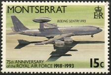 RAF Boeing E-3 Sentry AWACS aviones de vigilancia sello de Montserrat (1993)