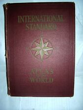 internatiomal standards atlas of the world vintage book HARDCOVER 1949 VG