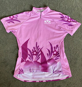 Voler Cycling Jersey - Women's Size Small in Pink/Hawaiian theme