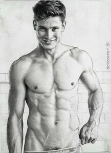 PRINT of Artwork Drawing Painting Male Gay Interest MCicconneT ~ THOUSAND BITS