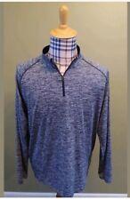 Under Armour Men's heat gear long sleeve gray 1/2 zip pullover