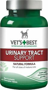 Vet's Best Urinary Tract Support Cat Supplement, 60 count   Free Shipping