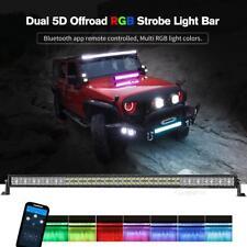 "5D+ 52""inch CREE RGB LED LIGHT BAR Hunting ATV UTV for Jeep Chevy Off-road 4x4WD"