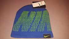 NIKE REVERSIBLE BEANIE HAT KIDS ROYAL BLUE GREEN 9A2593-U89 NEW WITH TAGS YOUTH
